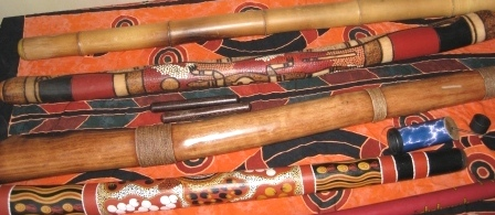 Didgeridoos bemalt dekoriert